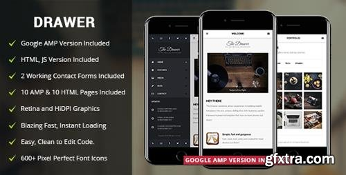 ThemeForest - Drawer Mobile v2.0 - Mobile & Google AMP Template - 4144202