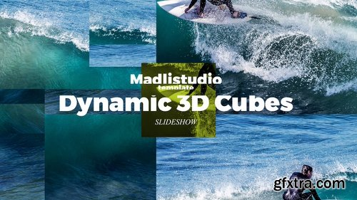 Videohive Dynamic 3D Cubes Slideshow 22466423