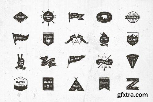 20 Grunge Badges 2