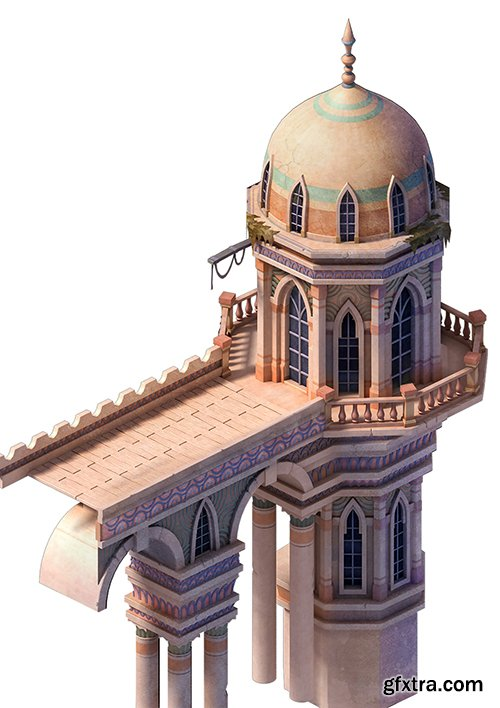 Cubebrush - Muslim - Palace Basilica Tower 01