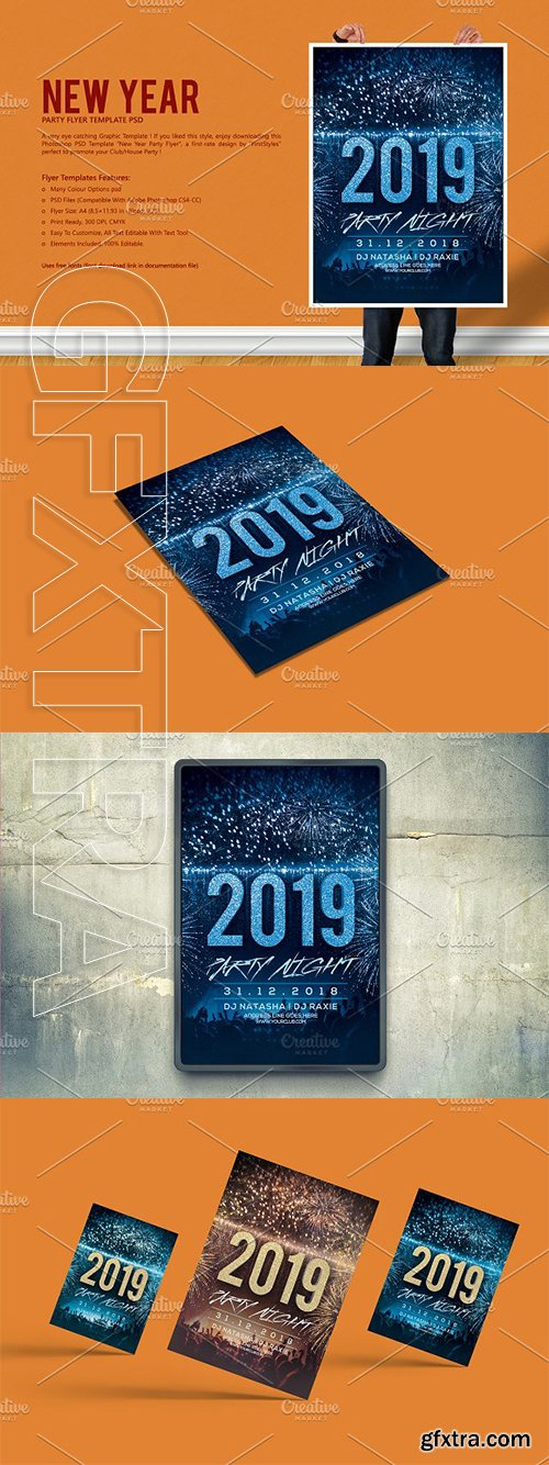 CreativeMarket - New Year Party Flyer 3091153