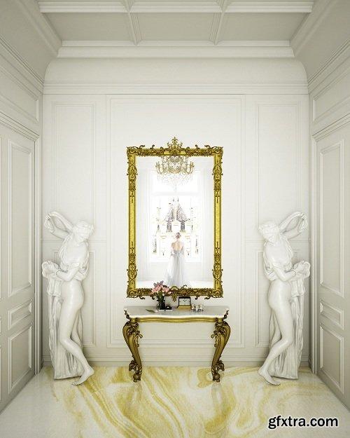 Neoclassical Interior 02 3D Scene