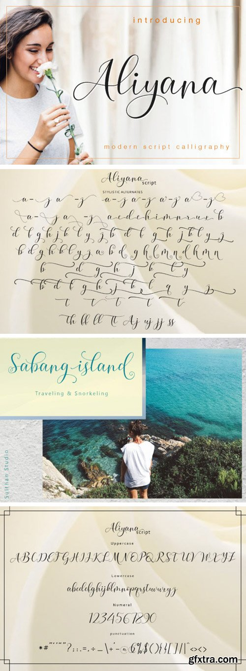 Aliyana Script Font