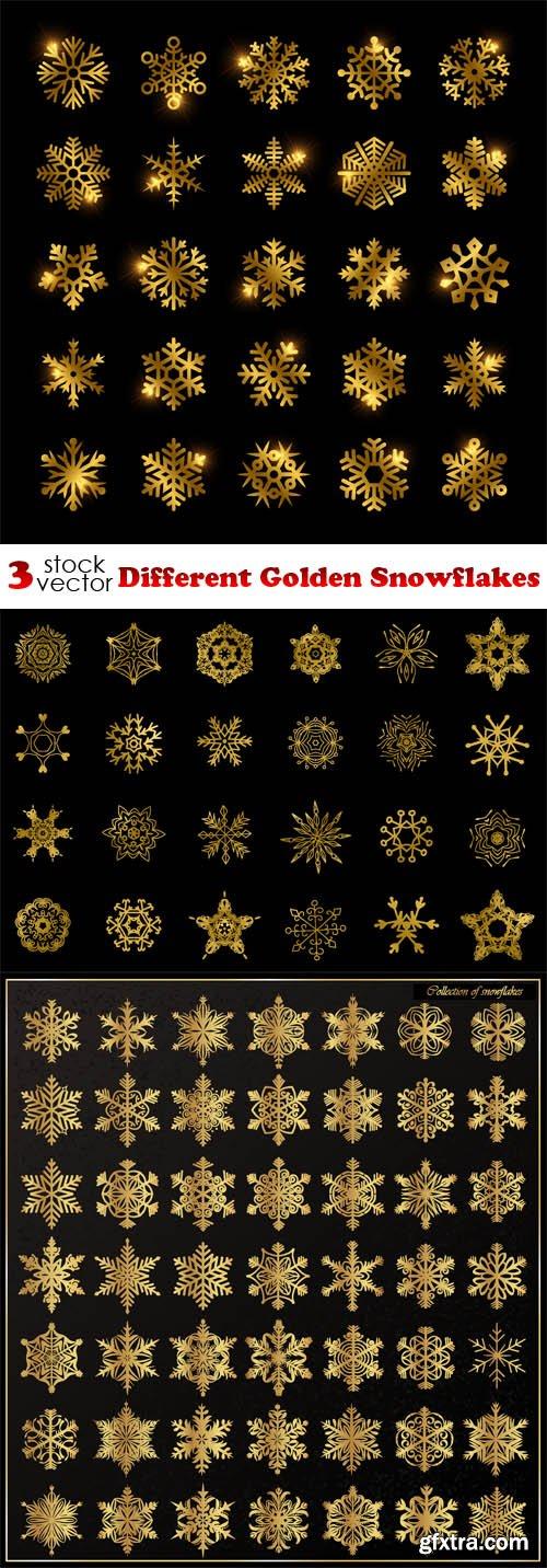 Vectors - Different Golden Snowflakes