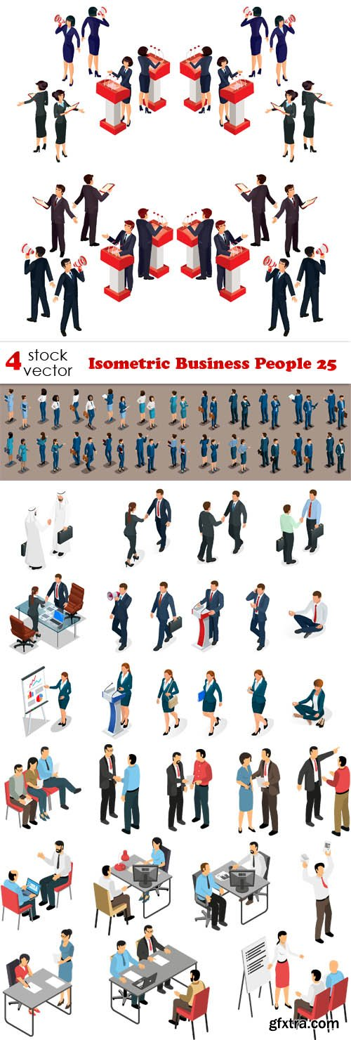 Vectors - Isometric Business People 25
