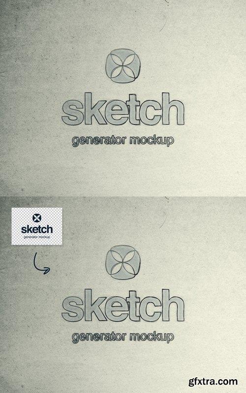 Sketch Generator PSD Mockup