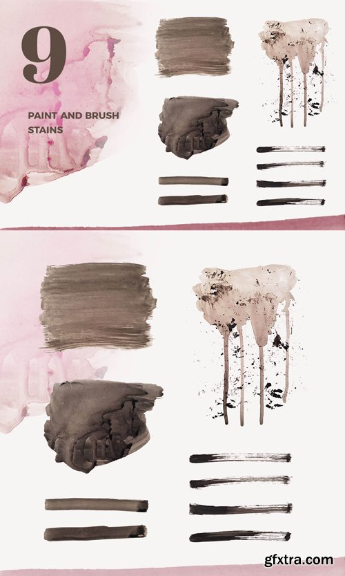 9 Paint Stains Brush [PNG]