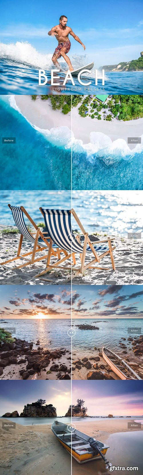 5 Beach Presets for Lightroom, Photoshop and CameraRaw [lrtemplate/ATN/XMP]