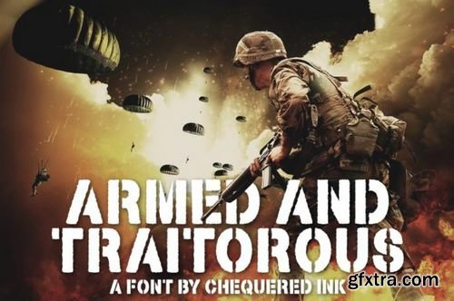 Armed and Traitorous Font