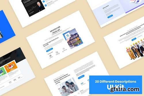 20 Descriptions Blocks Design for Web-UI Kit