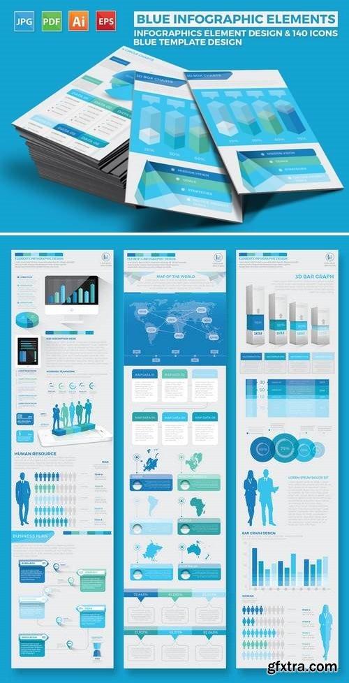 Blue Pack Infographics Design