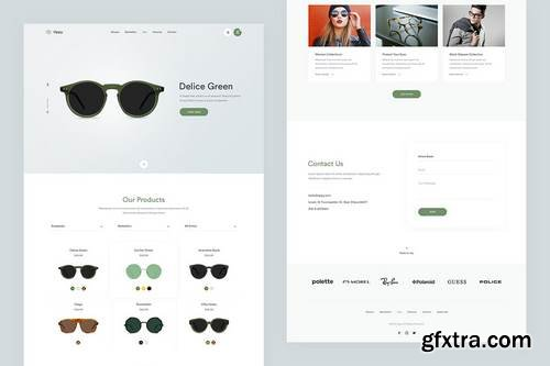 Oppy — Store Single Page PSD Template