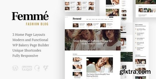 ThemeForest - Femme v1.1 - An Online Magazine & Fashion Blog WordPress Theme - 21395146