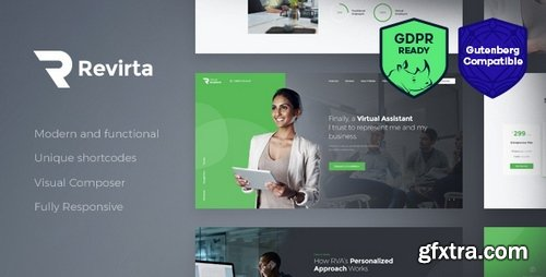ThemeForest - Revirta v1.2.0 - Virtual Assistant WordPress Theme - 21254345