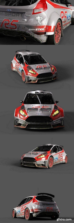 Ford Fiesta R5 Race – 3D Model