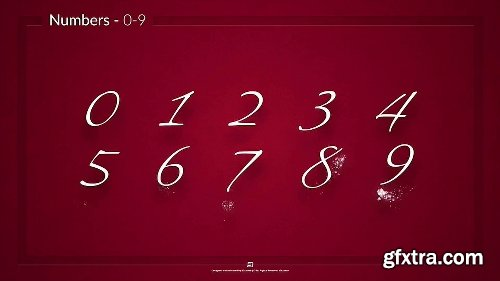 Videohive Simple Typer - Holiday Particles Handwritten Typeface 22733481