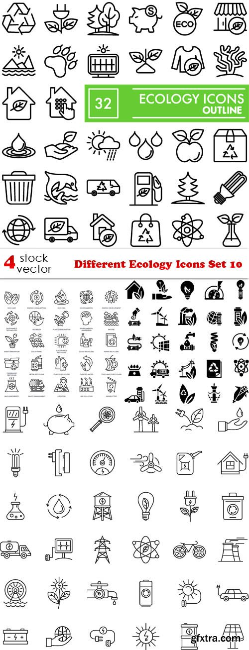 Vectors - Different Ecology Icons Set 10