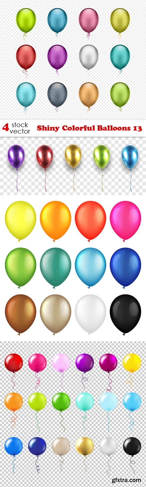 Vectors - Shiny Colorful Balloons 13