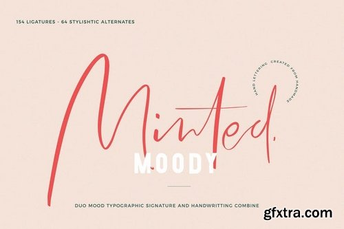 Minted Mood  Font duo