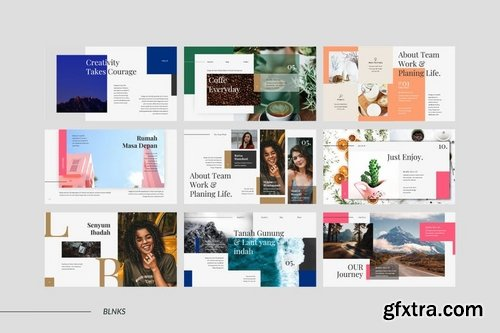 BLNKS Powerpoint Keynote and Google Slide Templates