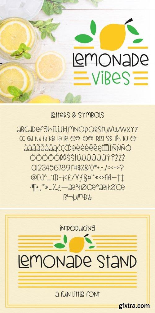Lemonade Stand Font