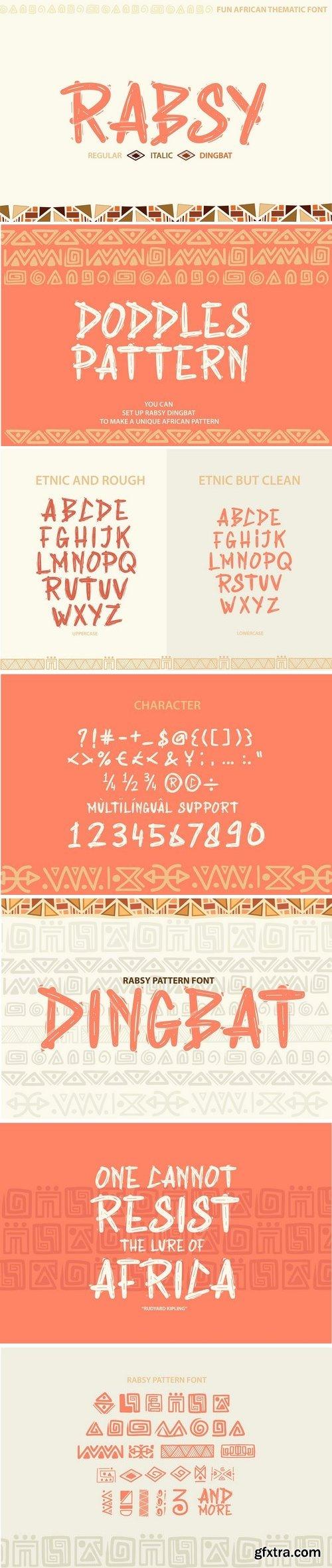 CM - Rabsy: African pattern font 3182653