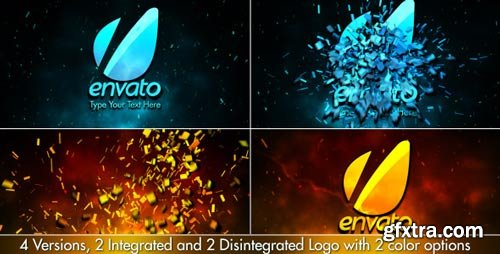 Videohive - Cinematic Fire Shatter Logo - 3777216