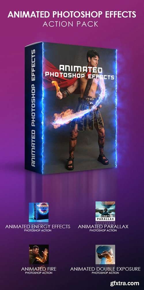 Graphicriver - Animated Photoshop Effects Action Pack 19374392