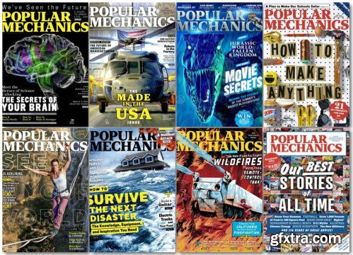 Popular Mechanics USA - 2018 Full Year Issues Collection