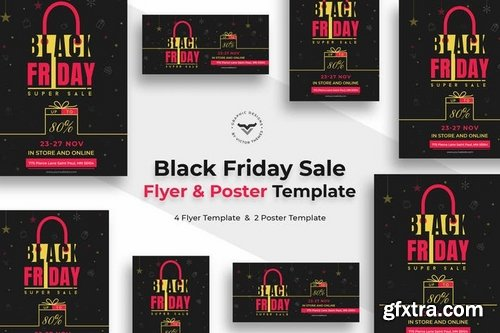Black Friday Flyer and Poster Template Pack