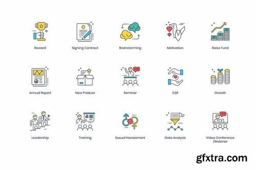85 Modern Business Icons