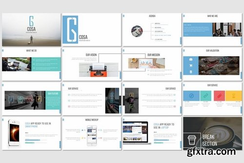 Cosa - Powerpoint Keynote and Google Slides Templates