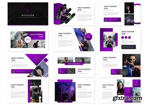 Hexazor - Powerpoint Keynote and Google Slides Templates