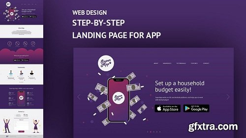Web Design: Step-by-Step Landing Page for Your Mobile App!