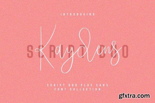 Fontbundles Kaydens Script Font Collection
