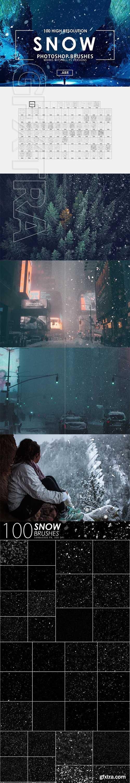 CreativeMarket - 100 Snow Photoshop Brushes 3071605