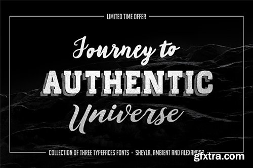 New collection of three typefaces fonts