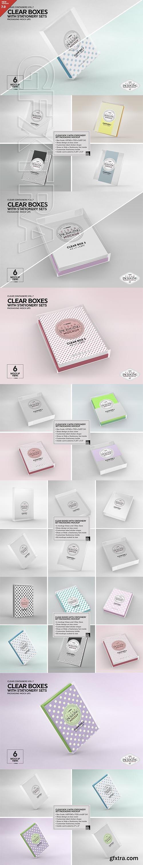 CreativeMarket - Clear Box Set Packaging Mockup 3169974
