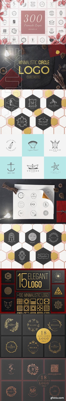 CreativeMarket - 300 Premade Logos Bundle 2871116