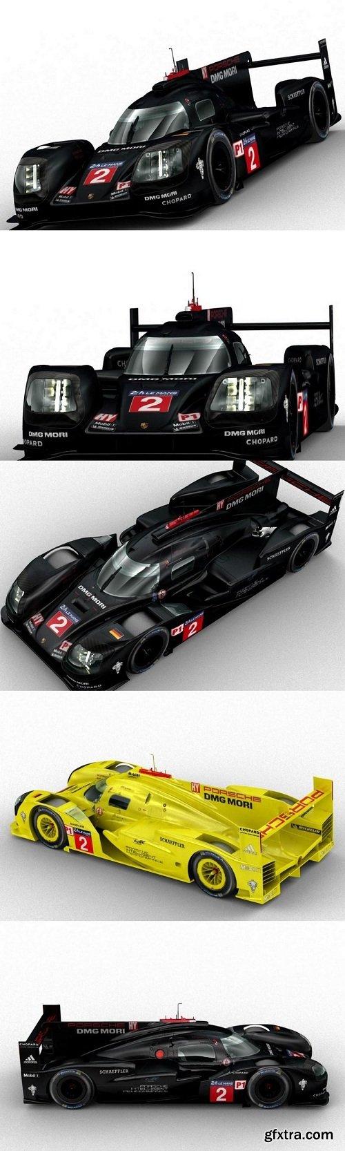 Porsche 919 Hybrid 24 Hrs Le Mans 3D Model