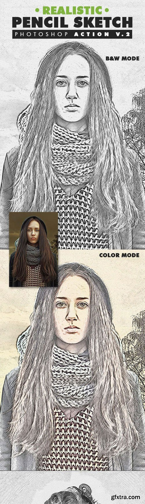 Graphicriver - Realistic Pencil Sketch Photoshop Action Vol.2 19553148