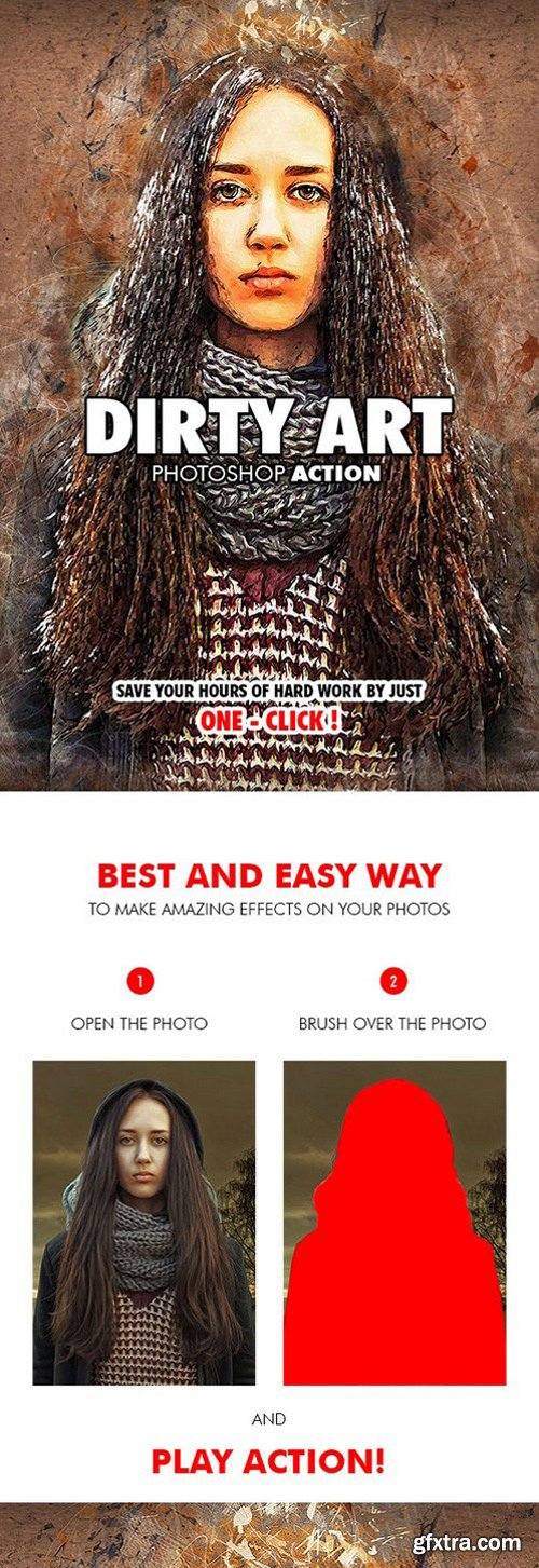 Graphicriver - Dirty Art Photoshop Action 19573400
