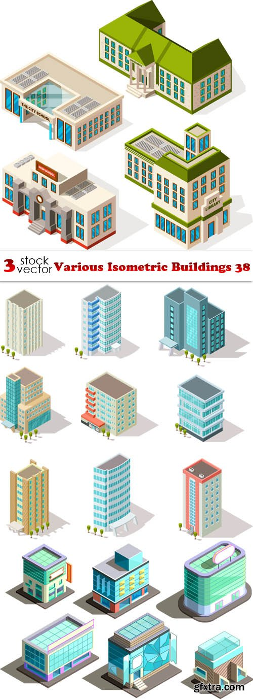 Vectors - Various Isometric Buildings 38