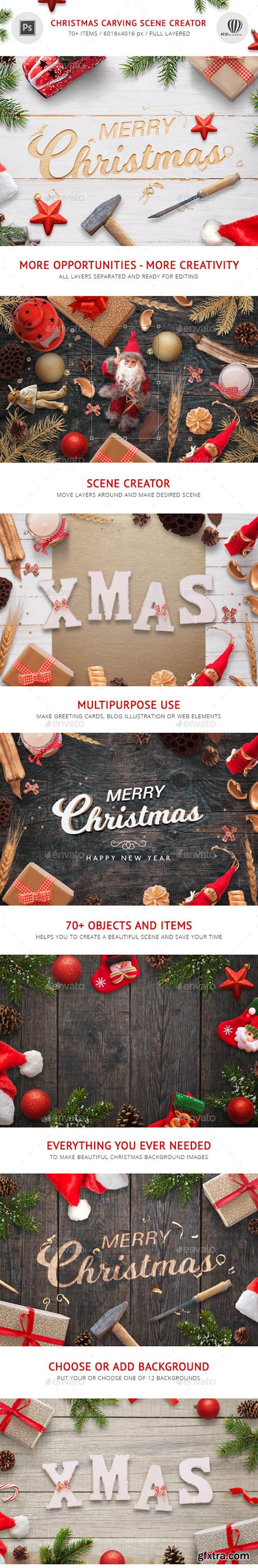 Graphicriver Christmas Carving Scene Creator 21112582