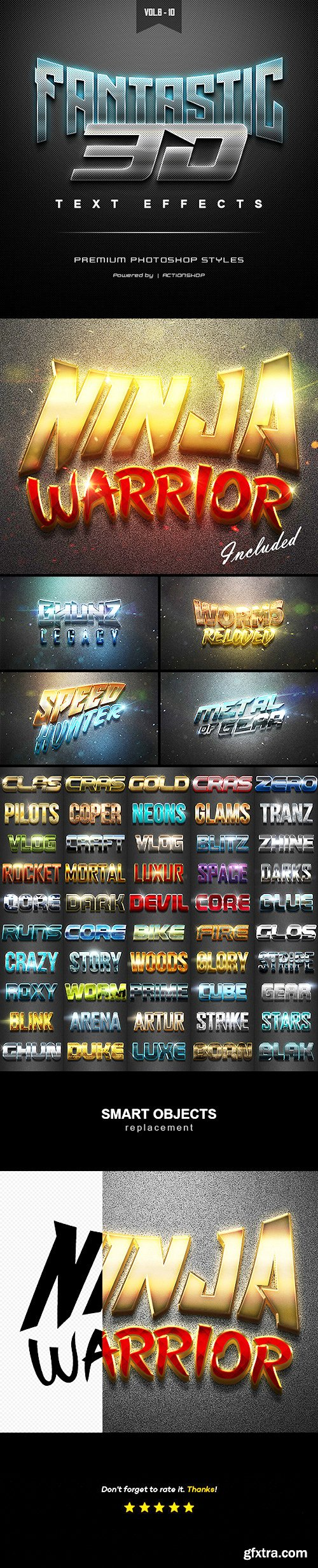 Graphicriver 3D Text Effects Bundle Two 22589005