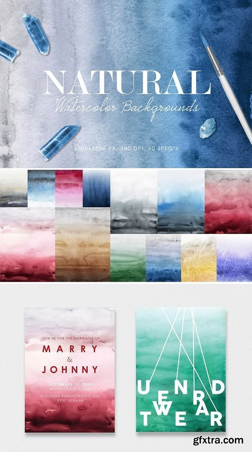 CM - Natural Watercolor Ombre Backgrounds 2924705
