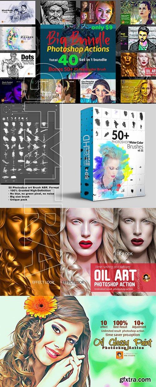 CreativeMarket - Photoshop Actions Big Bundle 3187590