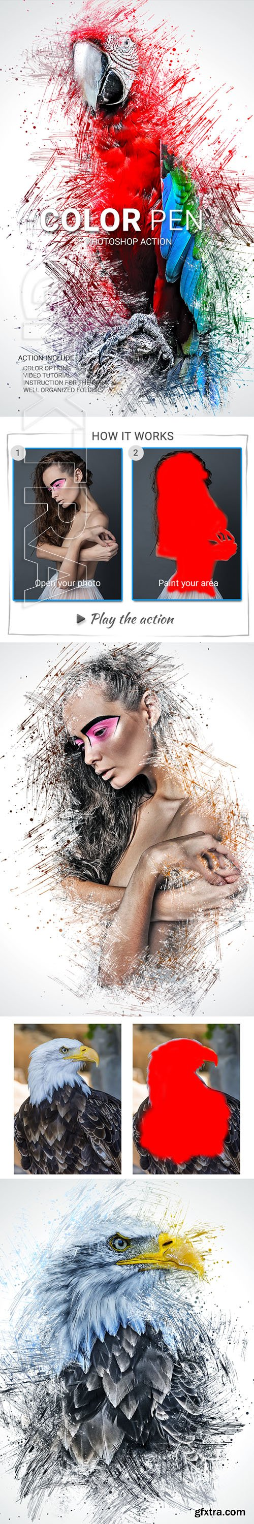 GraphicRiver - Color Pen Photoshop Action 22823757