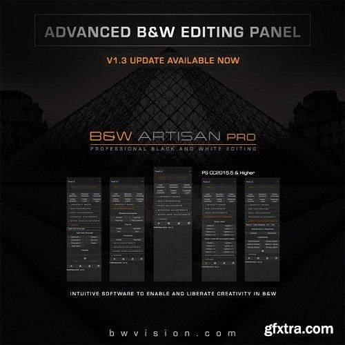 BW Artisan Pro v13 Editing Pnale for Adoe Photoshop CC 2015-2019