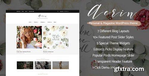 ThemeForest - Aerin v1.0 - Personal & Magazine WordPress Responsive Clean Blog Theme - 19694579